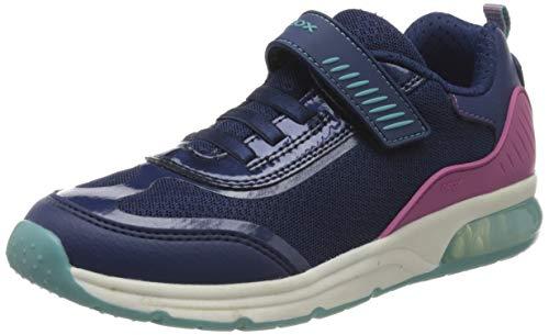 Geox Mädchen J SPACECLUB Girl C Sneaker, Blau (Navy C4002), 33 EU