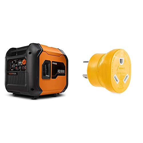 Generac 7127 iQ3500-3500 Watt Portable Inverter Generator Quieter Than Honda, Orange/Black & Camco...