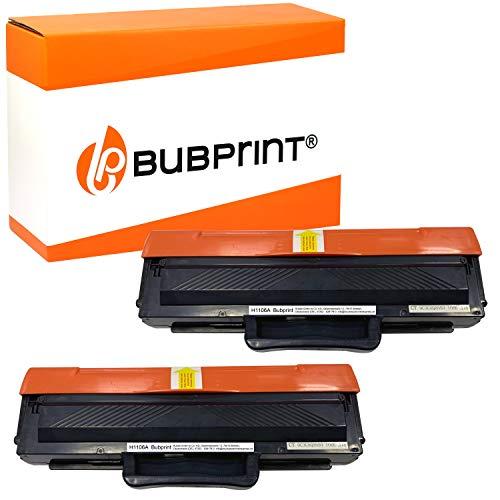 Bubprint Compatible para 2 HP 106A W1106A 100% más de contenido 2000 páginas CON CHIP Laser MFP 135a 135ag 135r 135w 135wg 137fnw 137fw 137fwg 138fnw 138fw 138p 138pnw 107a 107r 107w Cartucho Tóner