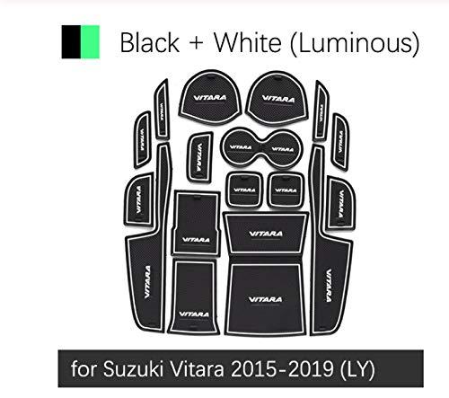 linfei Anti-Rutsch-Gummi Tor Slot Cup Mat Für Suzuki Vitara 2015-2019 Zubehör Aufkleber