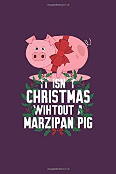 Marzipan Pig  Funny Traditional Norwegian Christmas Gift 6X9 Journal Paper Book