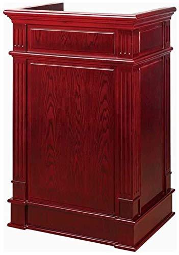 JCCOZ -URG Home Accesorios Atril Hotel de gama alta Podio de madera maciza Recepción Mesa de conferencias Mesa de habla JCCOZ-URG