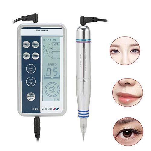 Augenbrauen Tattoo Stifte, Digital Permanent Augenbraue Tattoo Pen Make-up Tattoo Maschine, Microblading Tattoo Maschine Rotary Tattoo Pen mit LCD-Bildschirm für Lippe Eyeliner Haaransatz