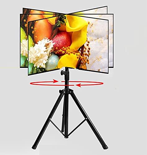 LIXUDECO Mueble de TV giratorio de 360 grados de 32 ~ 55 pulgadas, soporte para trípode TRK-H44 Max.VESA 500 x 400 mm carga 50 kg altura de inclinación ajustable TV piso soporte muebles