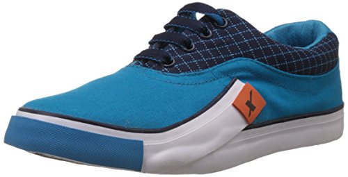 6. Sparx Men's Sea Green and Navy Blue Sneakers