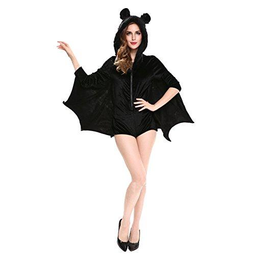 Milopon Capes Halloween Cosplay Cloak Vêtements Adultes Chauve-souris Combinaison Costumes Decor Taille XL (99-102 cm)