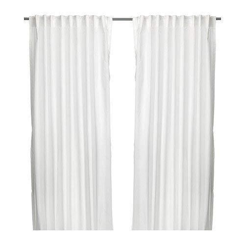 2x IKEA VIVAN–Cortinas, 1par, Blanco–145x 300cm