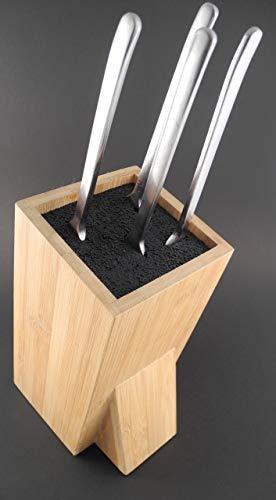 Zeller 25328 - Soporte para Cuchillos, 9.5 x 15 x 23.5 centímetros, Madera de bambú