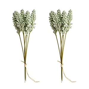 Holibanna 4 Ramo de Trigo Artificial Trigo Natural seco Trigo Natural seco decoración Flor Falsa Plantas Artificiales…
