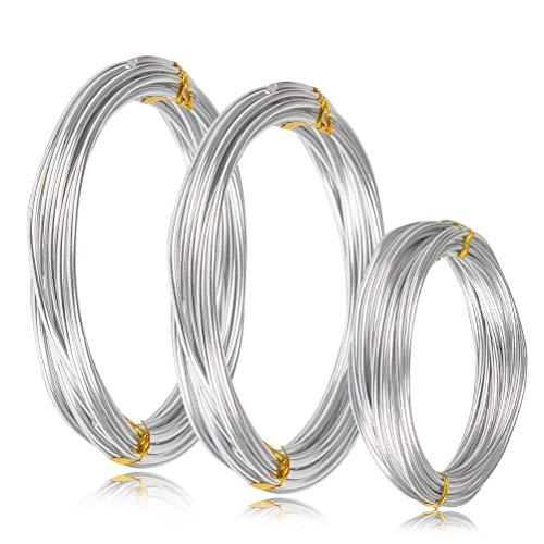 WOWOSS Rollos de Alambre de Aluminio 3 Tamaños (1 mm, 2 mm...