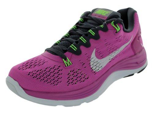 Nike Womens Lunarglide+ 5 Running Shoe Club Pink/Gridiron/Flash Lime/White Si.