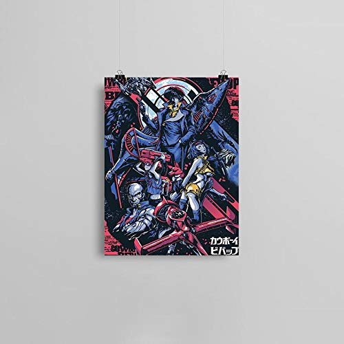 wZUN Space Cowboy Anime Lienzo póster Pintura Pared Arte decoración Sala de Estar Dormitorio Estudio decoración del hogar impresión 57x80cm Sin Marco
