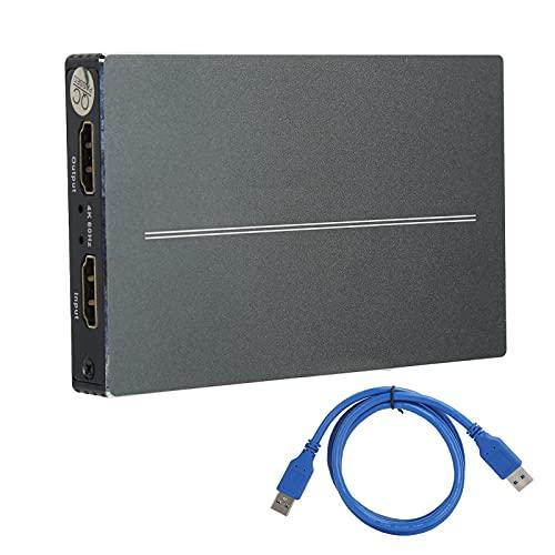 Heayzoki Interfaz Multimedia de Alta definición para Tarjeta de adquisición de Video USB3.0 Grabador 4K60Hz T-403, Tarjeta adaptadora USB Compatible con múltiples métodos de transmisión en Vivo