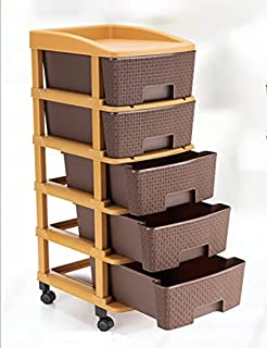 NAYRA FASHION Premium Plastic Multicolor Multipurpose Storage System Space Save Modular Drawer for Home Office Parlor Scho...