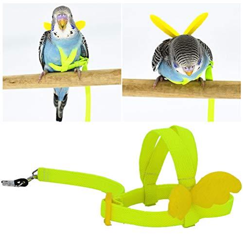 Balacoo Bird Arnés Correa Cuerda Voladora Correas Loro Cuerda De Tracción De Entrenamiento Al Aire Libre para Cacatúa Macaw Cockatiel Pájaro Pequeño