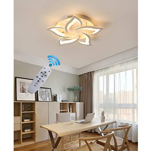 Preisvergleich Produktbild LED Deckenleuchte Wohnzimmerlampe Dimmbar Deckenlampe Kreative Chic mit Fernbedienung Designer Lampe Modern Stil Decken Leuchte Eisen Acryl Schirm Hängeleuchte Esszimmer Küche Deko Licht (5-flammig)