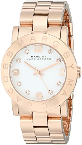 Big Sale Marc by Marc Jacobs Amy Quartz White Dial Women's Watch - MBM3077
