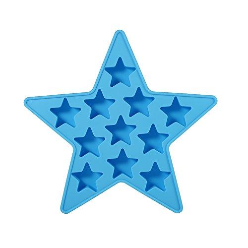 Eiswürfelformen Eiswürfelschalen Sternform Coole Silikon Eiswürfel Herstellung Werkzeug für Club Bar Party Verwenden für Hausgemachten (Blau)