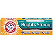 ARM & HAMMER Bright & Strong Truly Radiant Toothpaste, Crisp Mint 4.3 oz (Pack of 7)