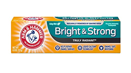 ARM & HAMMER Bright & Strong Truly Radiant Toothpaste, Crisp Mint 4.3 oz (Pack of 11)