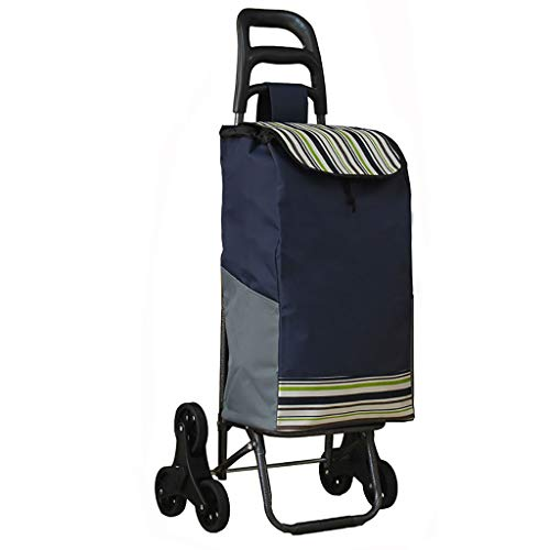 RTTgv Einkaufstrolleys Einkaufswagen 6 Rad Kunststoff 45 * 33 * 94 cm 32 L (Farbe : C)
