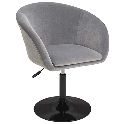 Duhome Jumbo Size Velvet Accent Chair Vanity Stool Chairs Makeup Dressing Chair Round Swivel Pub Bar Dark Grey