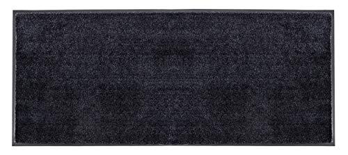 Schöner Wohnen Kollektion strapazierfähige Schmutzfangmatte Miami – getuftete Fußmatte 67x150 cm in Anthrazit-schwarz – waschbarer Sauberlauf