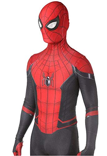 VINMEN Far from Home Spider Man Costumes Adult Kids Unisex Halloween Cosplay Suit (Adult-S, Red)
