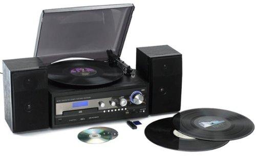 Reflexion HIF8180 Halbautomatischer Plattenspieler (MP3 Player, USB 2.0) schwarz