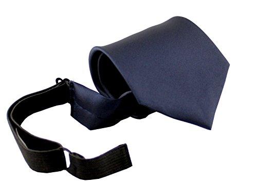 ADAMANT Krawatte mit Gummiband Dunkelblau Sicherheitskrawatte