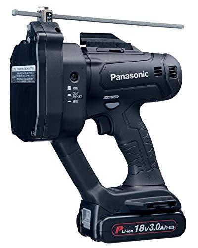 パナソニック充電 W1/2全ネジカッターEZ45A9 デュアル (14.4V/18V対応) W1/2・M12・W3/8・M10対応 18V大容量3.0Ah電池パック×2個・充電器・ケース付き ブラック EZ45A9PN2G-B