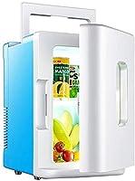 カーrefrigerator.Mini fridge.Small refrigerator.Freezer.Portable.Refrigerator.Cooler.10L容量ポータブルミニ冷蔵庫カー冷蔵庫超静音低消費電力の車のホームデュアルユース電動式。,ブルー(クラシック)
