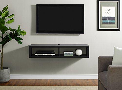 Martin Furniture Shallow Wall Mounted, 48', Black