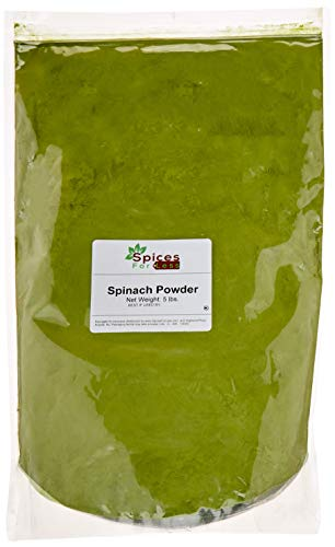 SFL Spinach Powder - 5 lbs Bulk - Resealable Bag - Kosher - Premium Quality