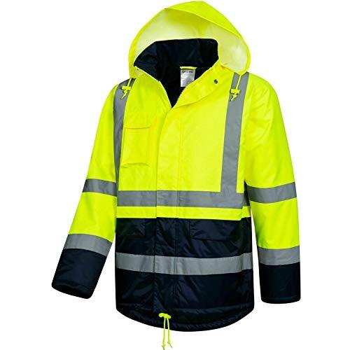 Safetytex Winter Warnschutz Parka Arbeitsjacke Warnschutzjacke Warnjacke Jacke