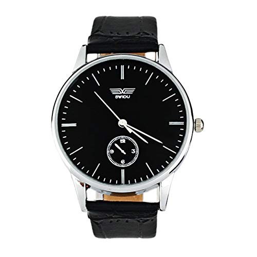 GKXAZ Paar Uhren Quarz Analog Armbanduhr for Männer Frauen Simple Classic Black Love Leder Uhren Luxuxgeschenk Dropship F509 (Color : Man)