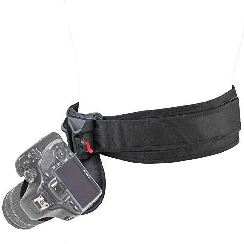 Spider Black Widow Camera Holster Hüft-Tragesystem für 1 kleine DSLR oder Systemkamera - ikl. Kamerahalfter & Hüftgurt