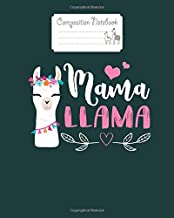 Composition Notebook: mama llama for women gifts for christmas mothers day - for men woman Journal/Notebook Blank Lined Ruled 100 pages 8x10 inches