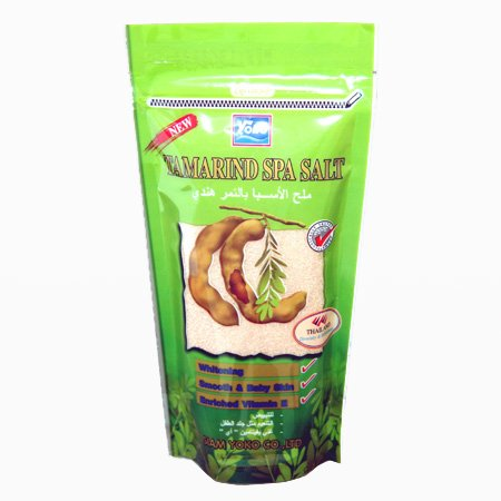 Yoko - Tamarind Spa Salt - Natural Spa At Your Home!! Deep Cleans and Skin Whitening [Enrich Vitamin E] 300 G Made in Thailand