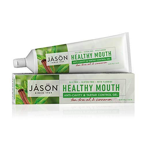 jason neem oils Jason Healthy Mouth Anti-Cavity & Tartar Control Gel, Tea Tree Oil & Cinnamon, 6 Oz