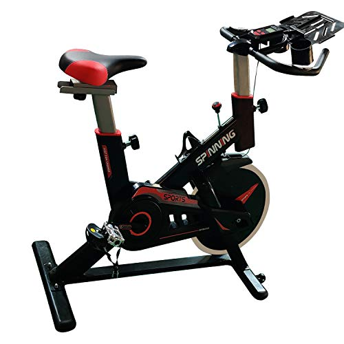 Durafit Pacer Spin Bike 2 Way Adjustable Cushioned Seat and Handles, Fly Wheel Weight - 6 Kg