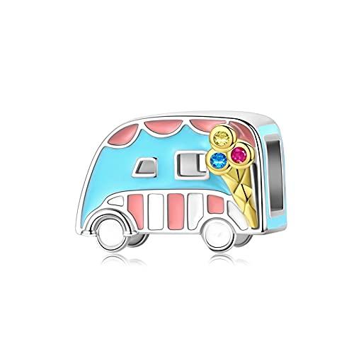 Frauen 925 Sterling Silber Prinzessin Rinder Kürbis Auto Kinderwagen Bus Rad Boot Anhänger Perlen Charm Armband Diy Schmuck Machen D3