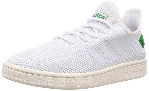 adidas Herren Court Adapt Tennisschuhe, Weiß Ftwbla/Brown 000, 44 2/3 EU