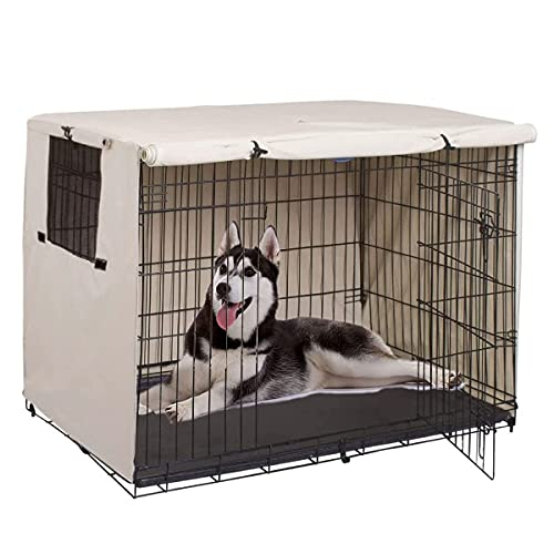 Enipate Dog Crate Cover Durable - Polyester Pet Kennel Cover Universal Fit...