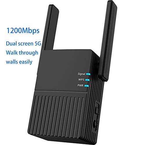 Sistemas WiFi Mesh,Repetidor de Wi-fi, 1200Mbps 2.4G / 5GHz WiFi repetidor, Long Range Extender Repeater/Access Point/Router Dual Band Wireless Signal...