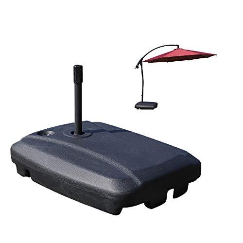 ConBeauty Soporte de Peso con Base de sombrilla de Patio en voladizo con Ruedas, diseño Recargable de Agua de 143 Libras, Placa de Base Cuadrada para sombrilla de Exterior Resistente