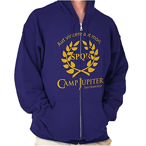Camp Jupiter SPQR Greek Mythology Zip Up Hoodie Mens Womens Purple