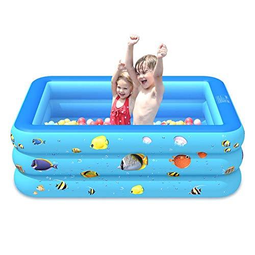 Enjoyyouselves Piscina hinchable para niños, piscina hinchable para bebés, piscina familiar engrosada de 3 capas para niños, niños pequeños, bebés (4 opciones)