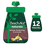 MADE WITH SIMPLE INGREDIENTS: Beech-Nut Naturals Stage 2 Banana, Blueberries & Avocado Baby Food Pouches are made with real fruits and veggies, gently cooked over indirect heat to preserve color, flavor and nutrients. NOTHING ARTIFICIAL ADDED: You wo...