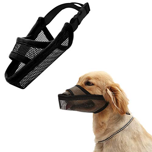 Cilkus Nylon Dog Muzzle Air Mesh Breathable for Small Medium Large Dogs,...